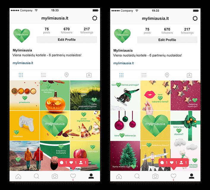 """Sėkmingai startavus su Mylimiausia Facebook komunikacija klientai davė užduotį sukurti """"Mylimiausios"""" Instagram paskyrą ir komunikaciją."""